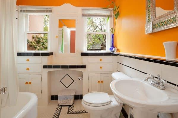 17 Amazing Orange Bathroom Ideas