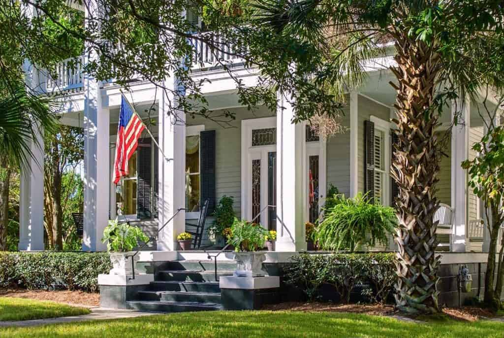 Beautiful southern home with an elegant front porch