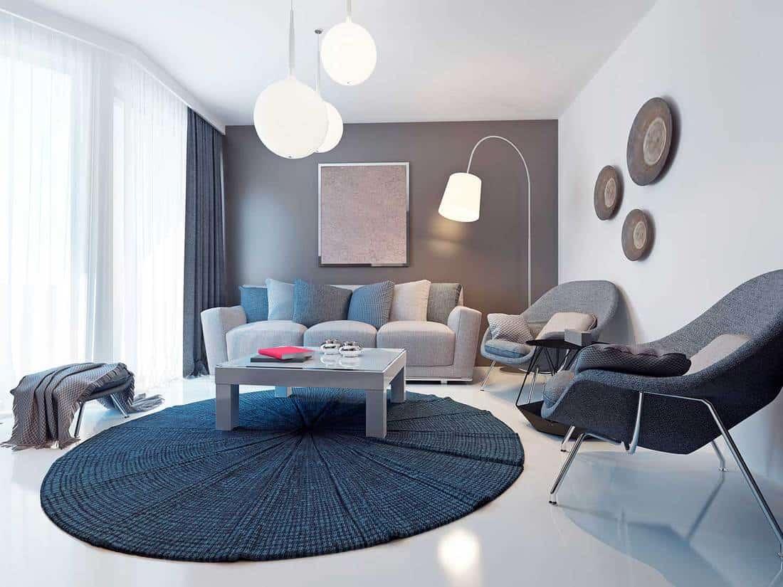 Bright contemporary living room trend