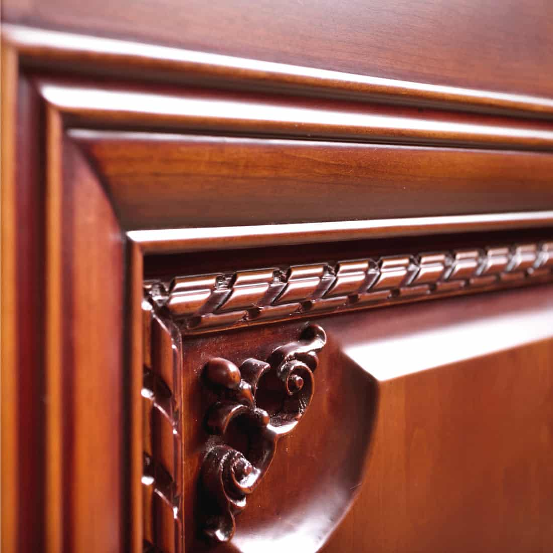 Crafted wood furniture with super fine and shiny finish