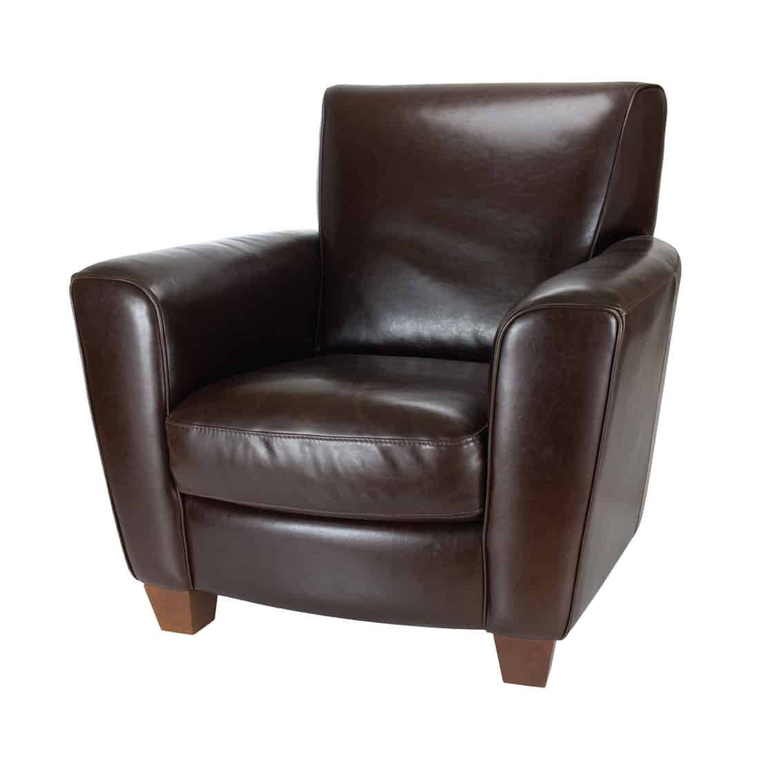 Dark brown leather chair, Contemporary Dark Brown Leather Chair