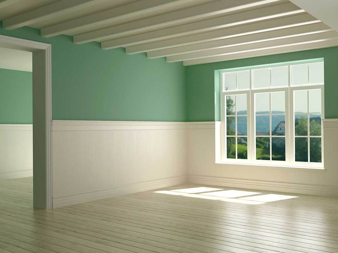 Empty room of a new country style home