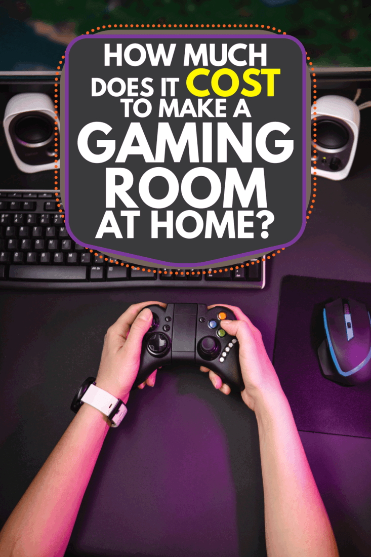 Female hands playing a computer game with a game joystick, How Much Does It Cost To Make A Gaming Room At Home?