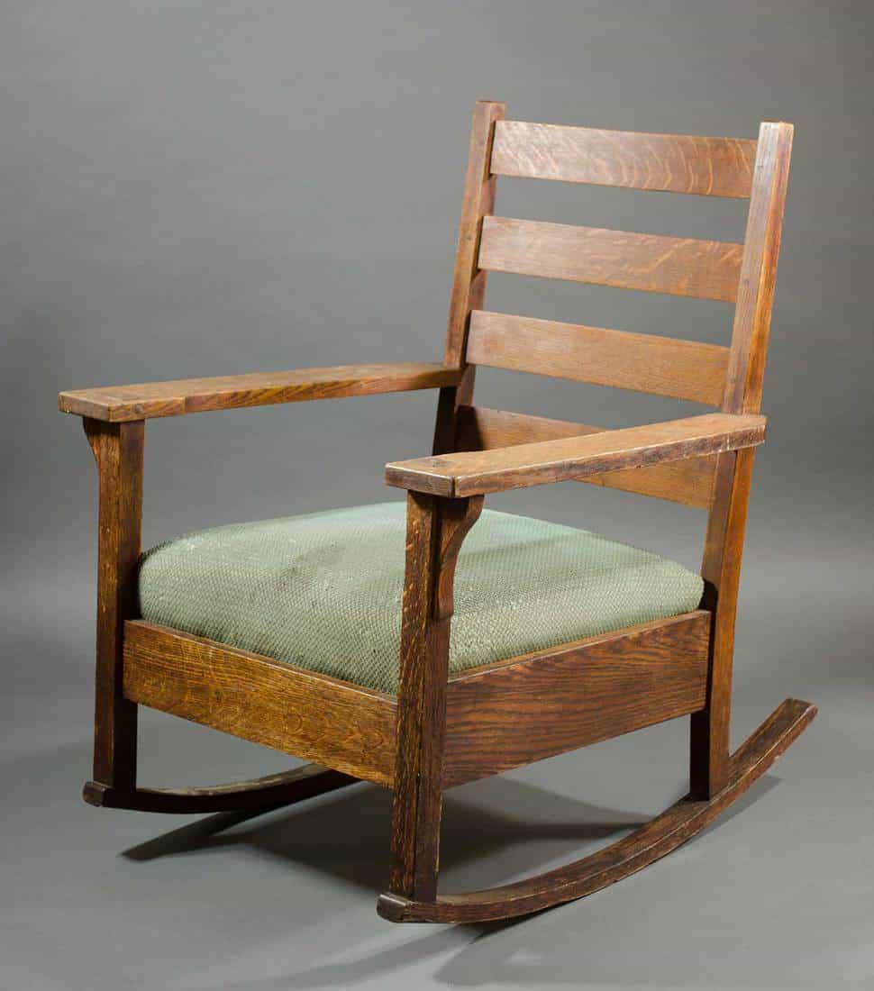 Gustav Stickley Craftsman oak rocker