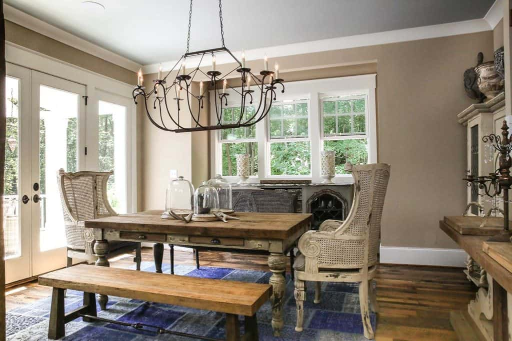 Home interior architectural custom dining room