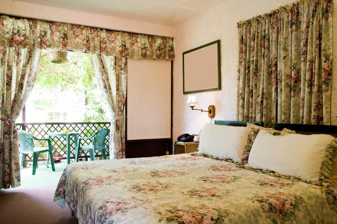 Hotel room interior with garden view Tobago