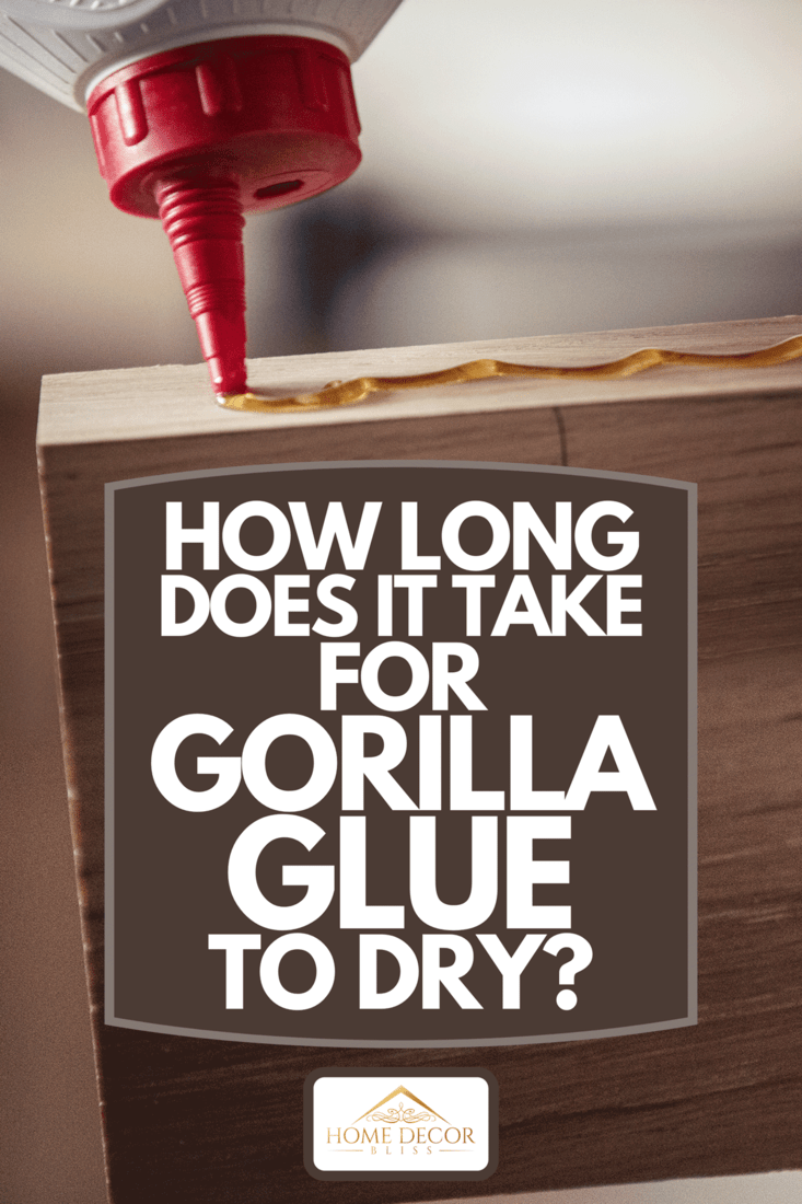 Close up of glue on wood, How Long Does It Take For Gorilla Glue To Dry?