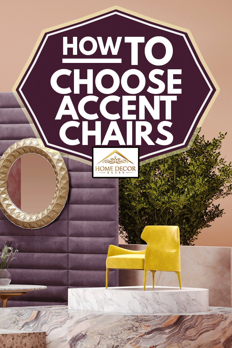 Concept interior setup with furniture with accent chair furniture, How To Choose Accent Chairs