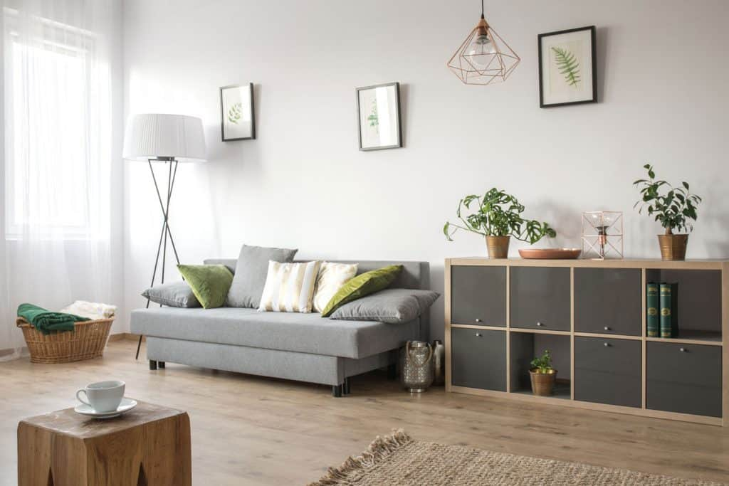 Interior of a modern living room incorporated with a Scandinavian inspired architecture