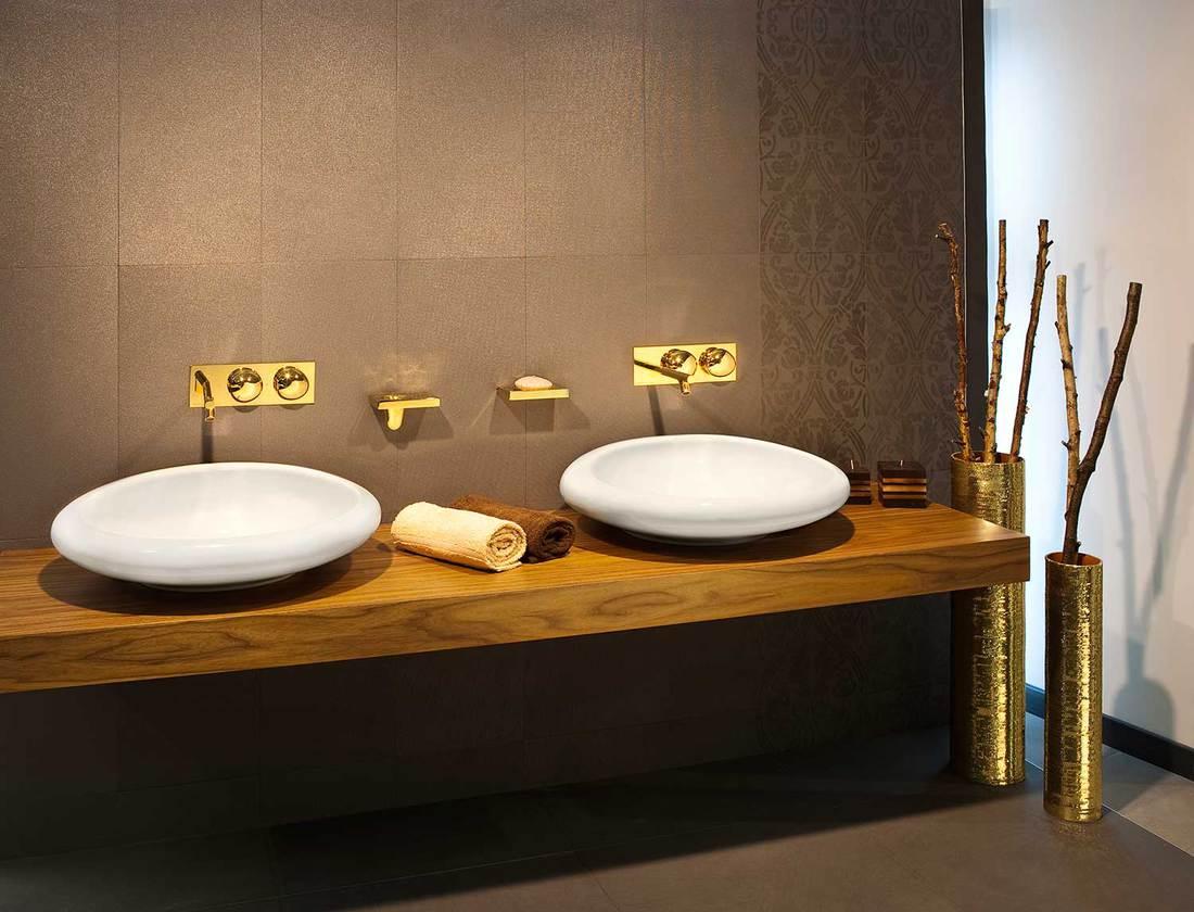 Luxury bathroom with dual sinks