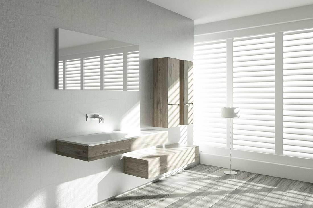 Modern bathroom with stylish furniture