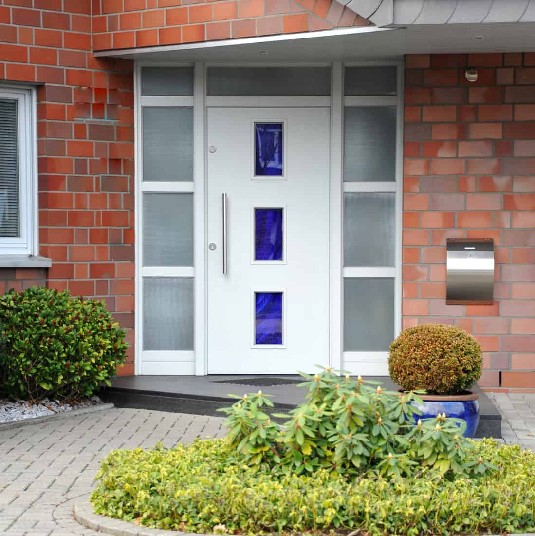 Modern entry accent door