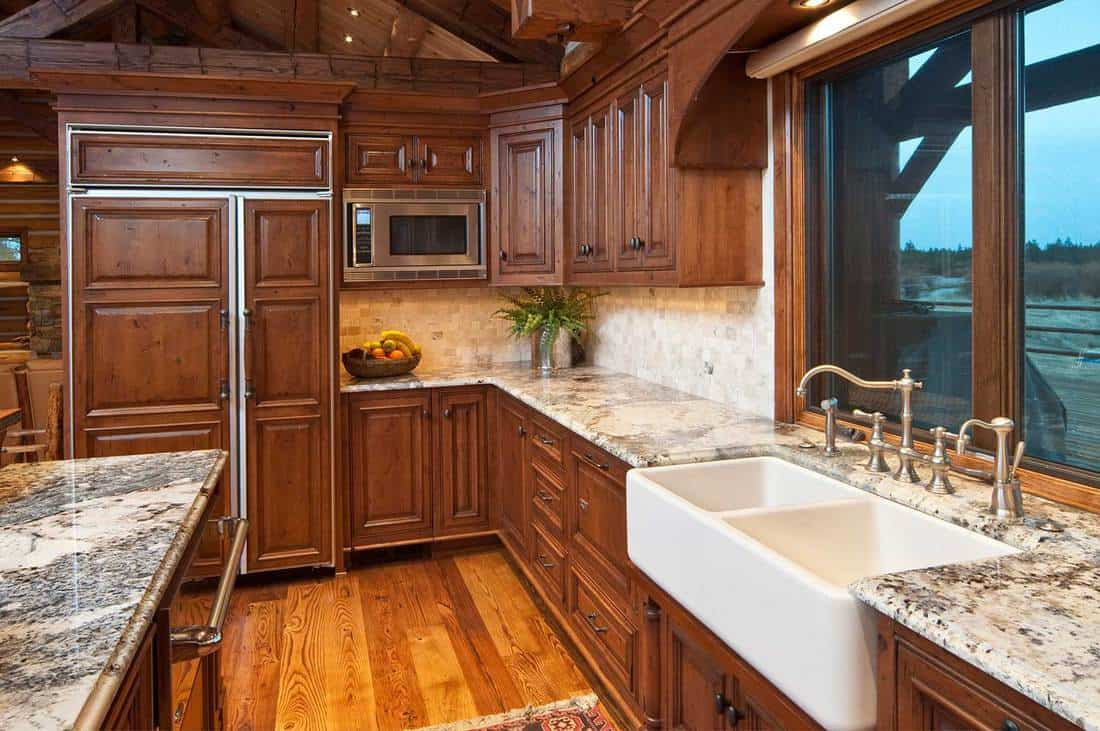Modern kitchen with over size sink