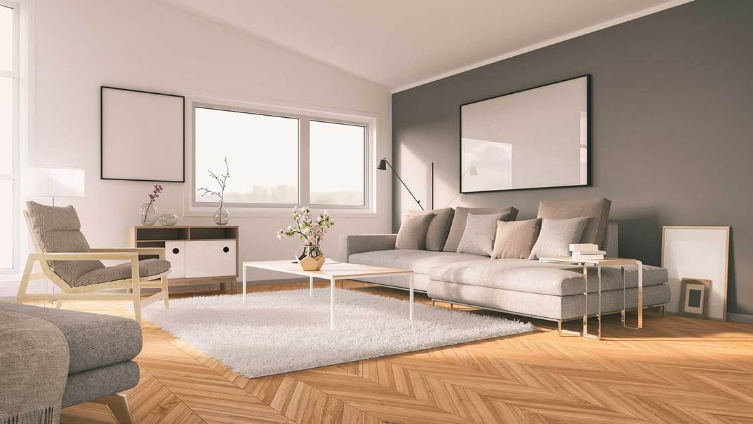 Modern minimalist Scandinavian-like living room