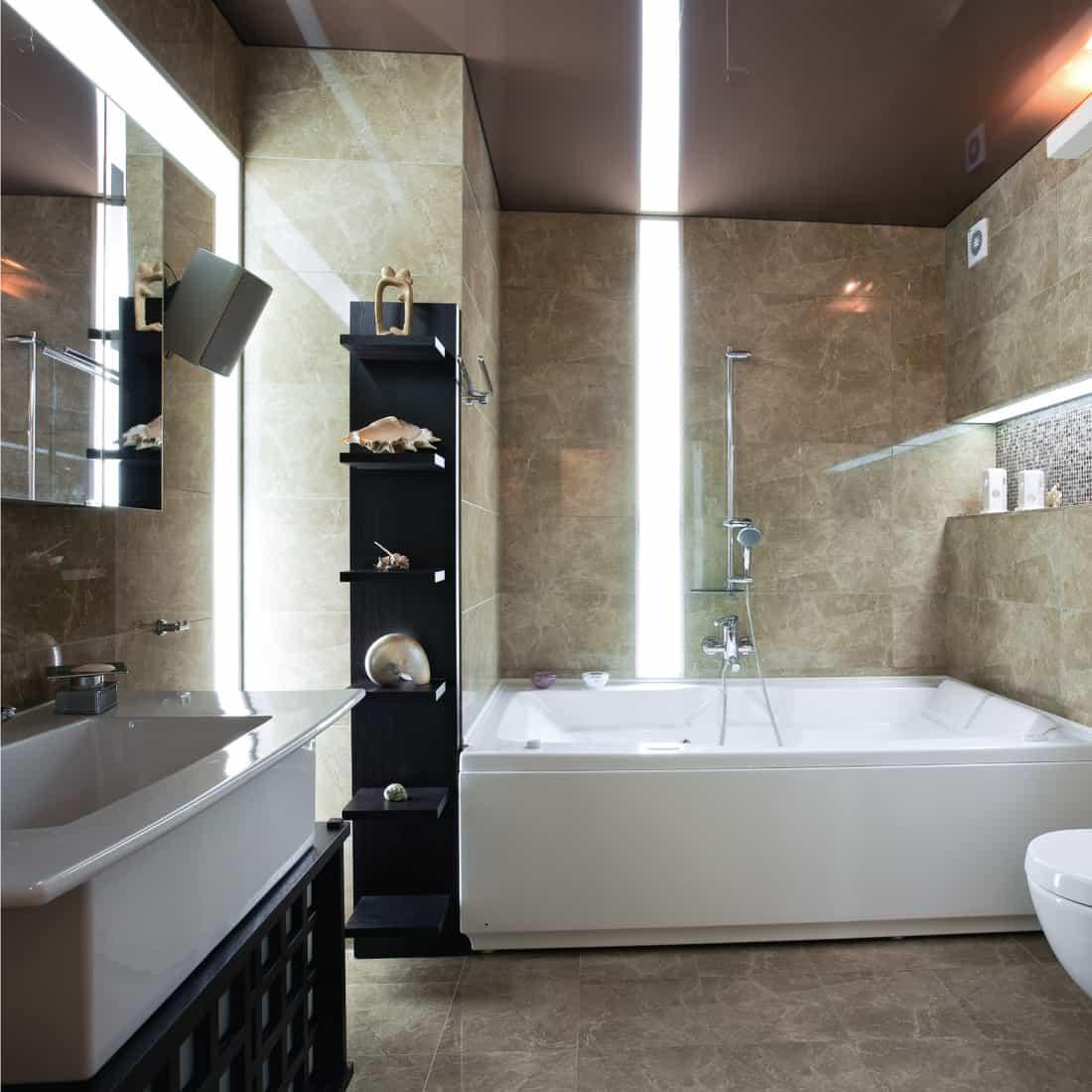 Neutral-Colored Modern Bathroom