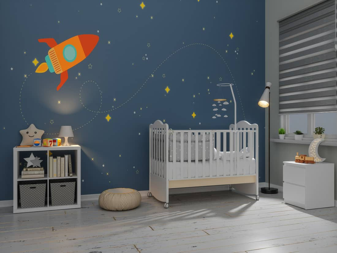 Nursery Room In The Evening