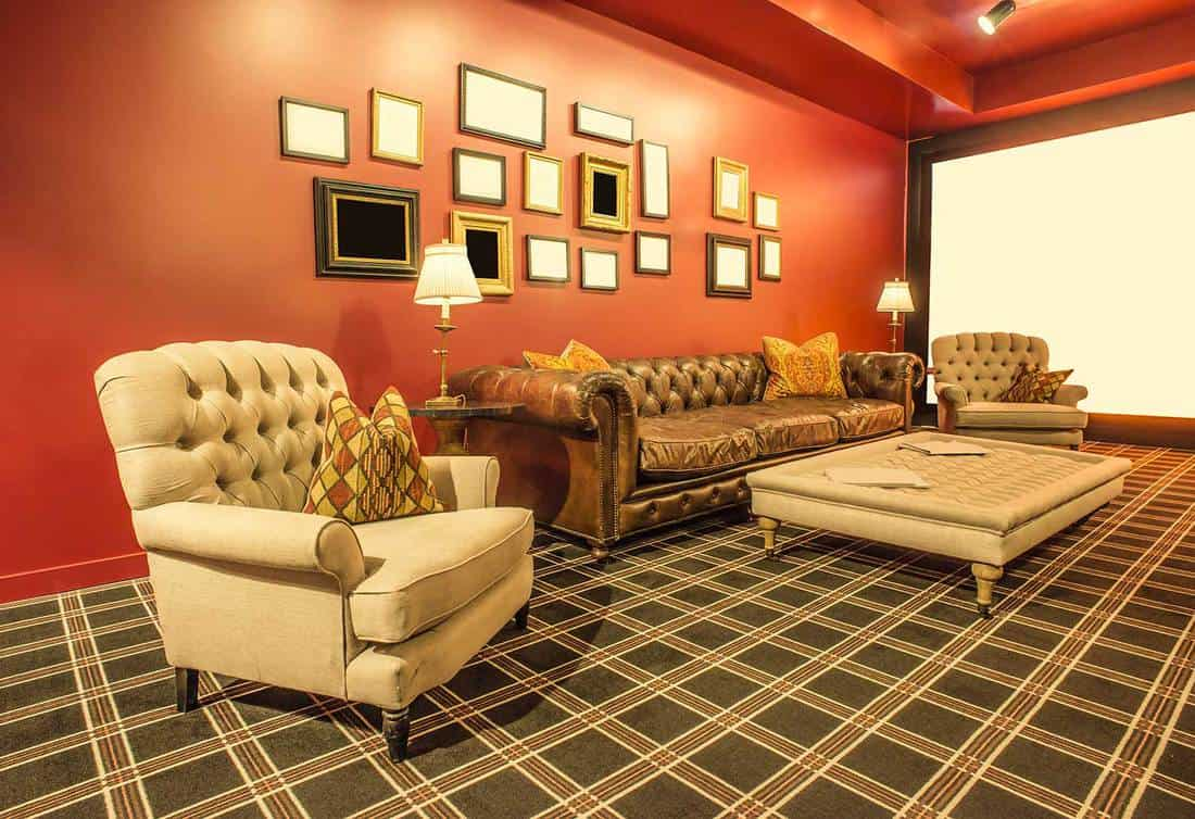 Old Hollywood style living room interior