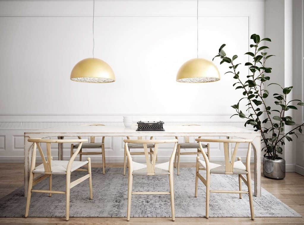 Retro styled dining room interior
