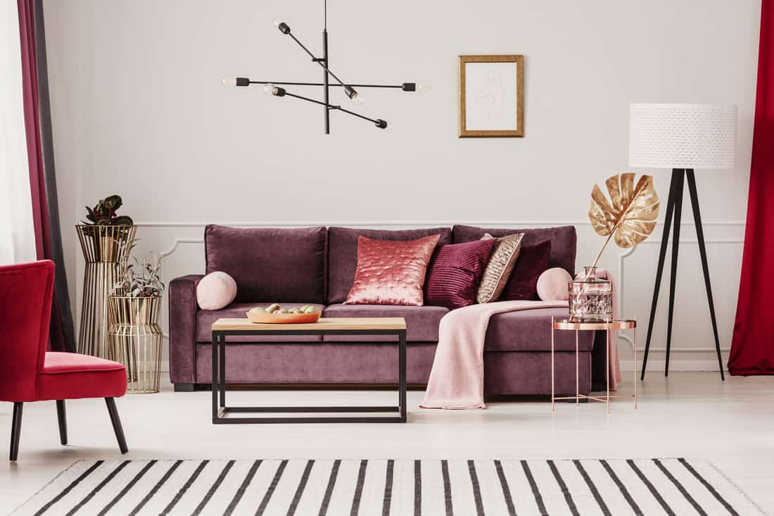 Sophisticated living room interior with accent chair