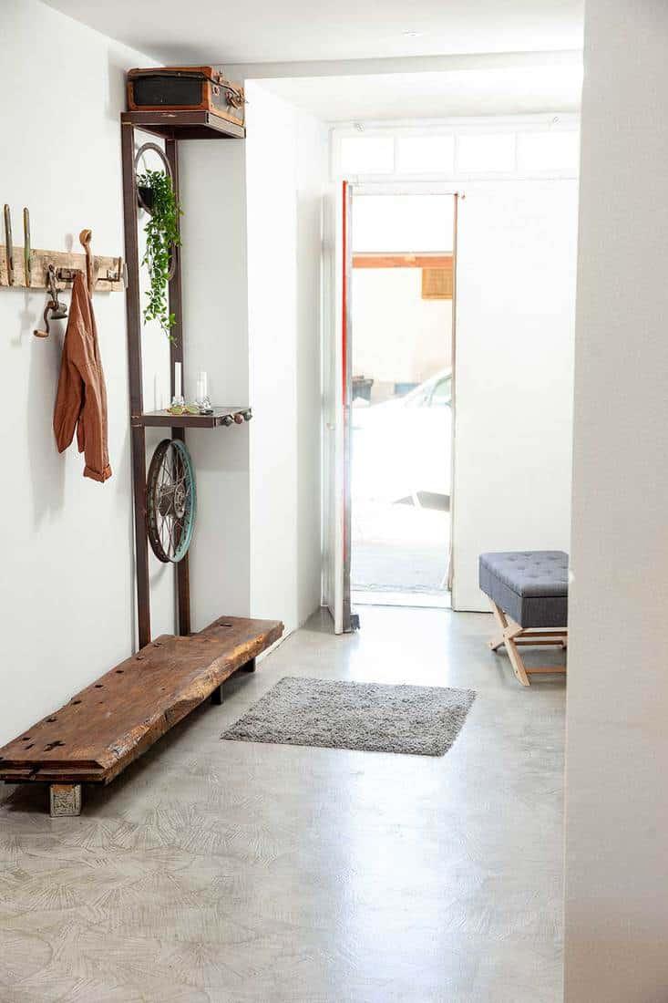 Suite entrance and clothes hanger