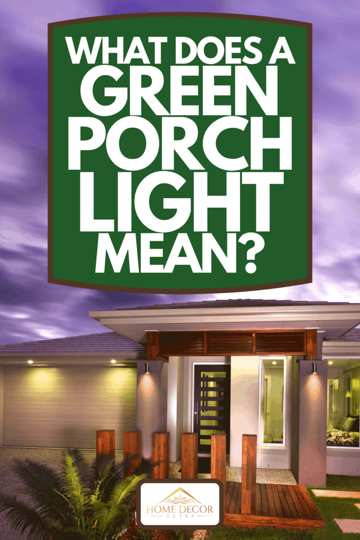 Beautiful view of a home at dusk from front with a garage, What Does A Green Porch Light Mean?
