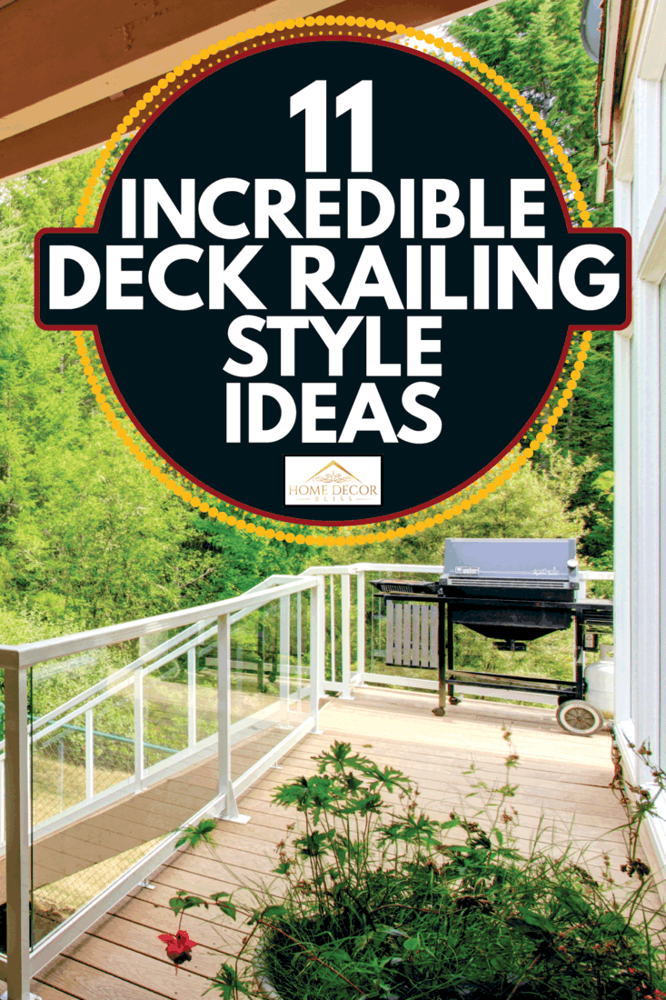 Wooden walkout deck with glass railing. 11 Incredible Deck Railing Style Ideas