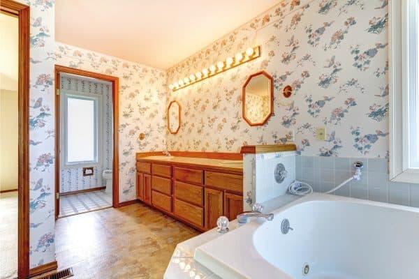 How To Wallpaper Around Bathroom Fixtures