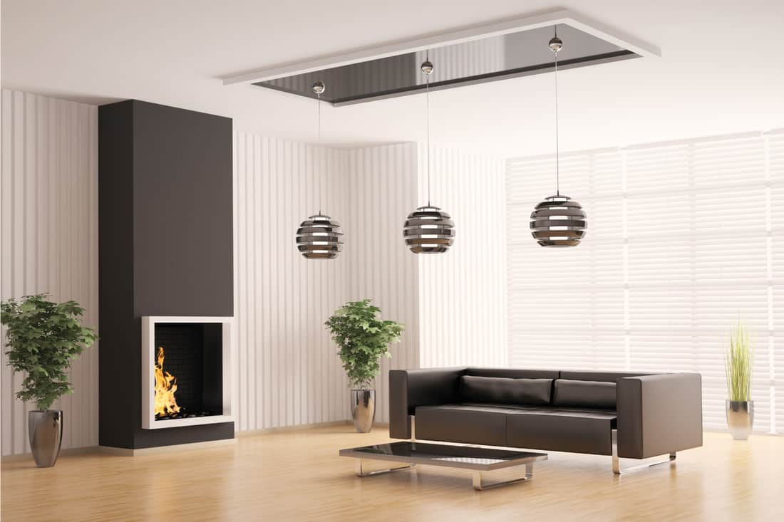 brown accented living room color scheme, brown ceiling, wall area, light fixture
