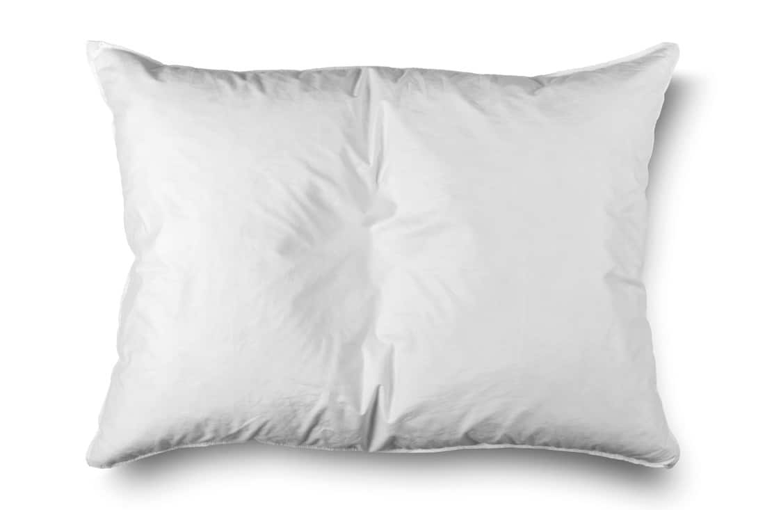 Close up of a pillow on white background