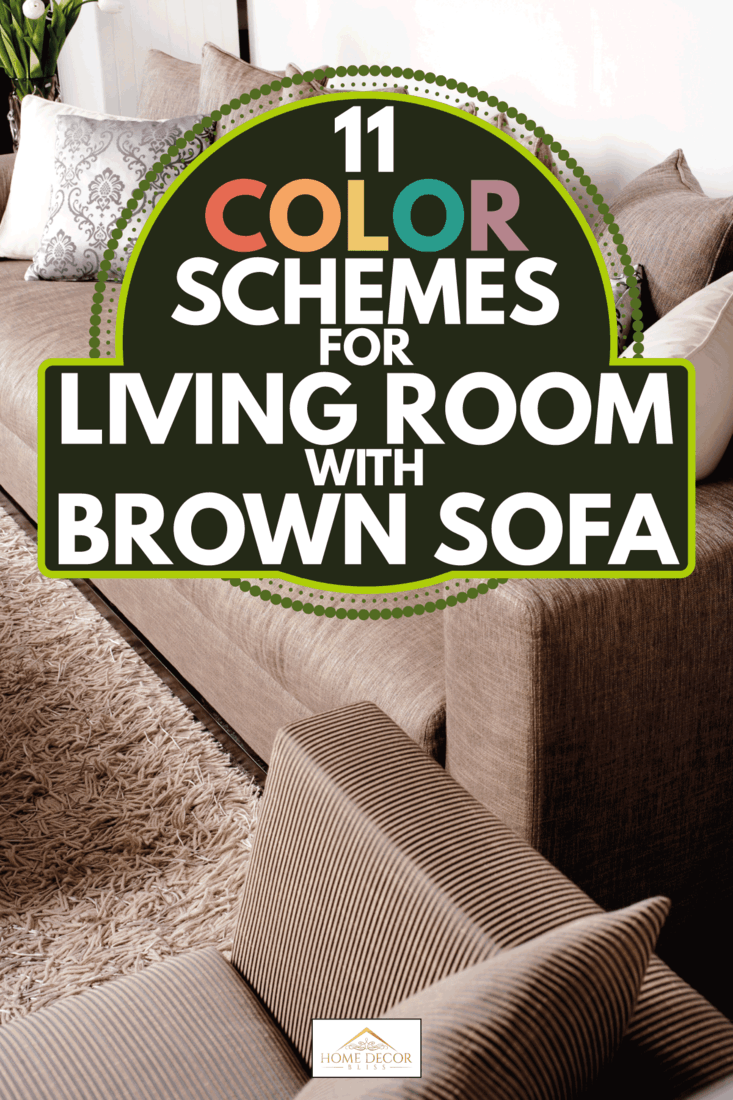 contemporary brown sofa with mix of white and brown throw pillows. 11 Color Schemes For Living Room With Brown Sofa
