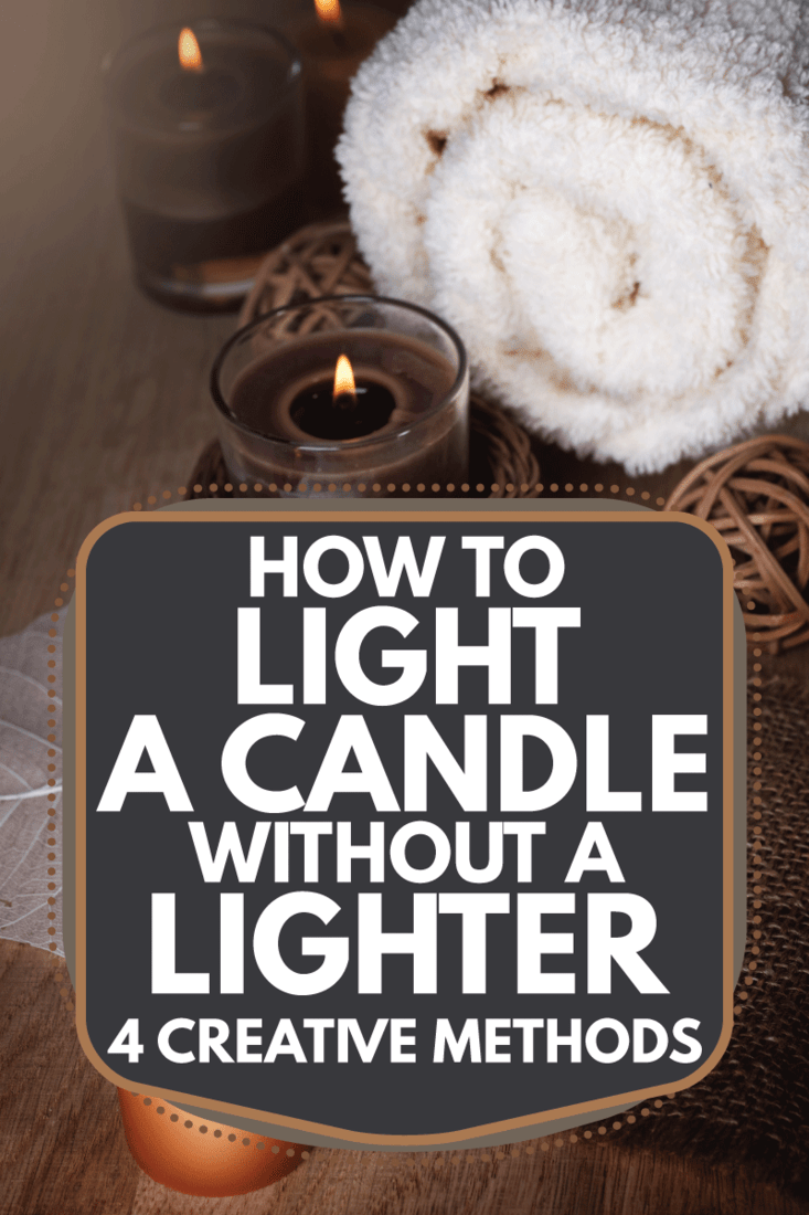 cotton towel and candles on a wooden table. How To Light A Candle Without A Lighter [4 Creative Methods]