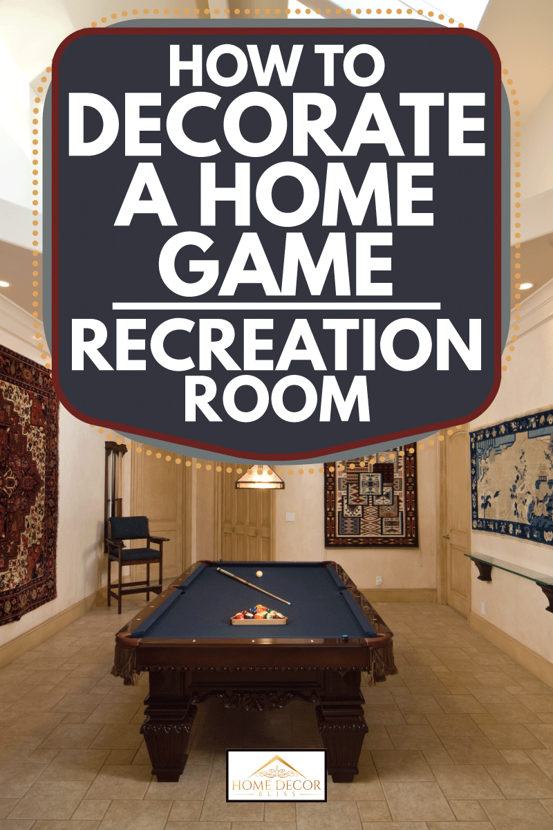 modern game room with billiard table in the middle. How To Decorate A Home Game Recreation Room