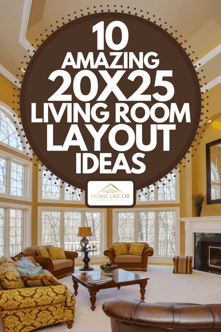 An amazing great room with vaulted ceiling and two story windows, 10 Amazing 20x25 Living Room Layout Ideas