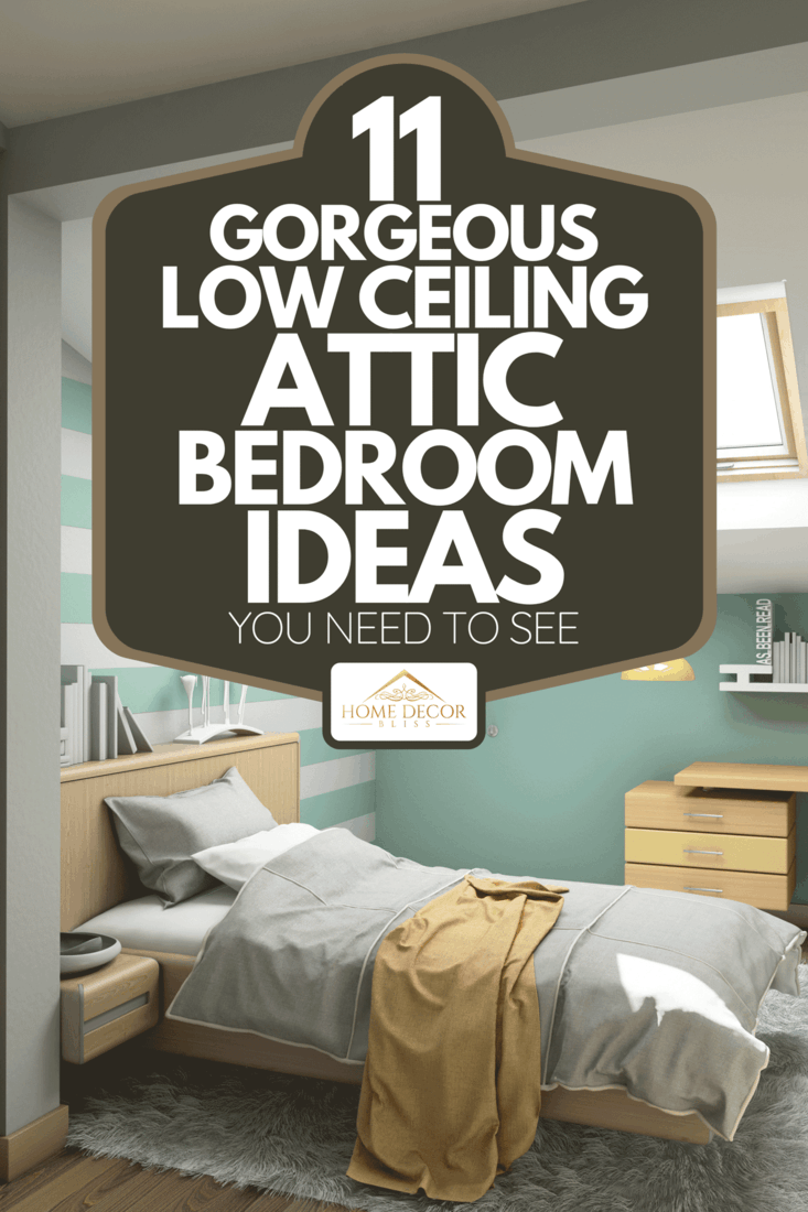 A bright teenager bedroom on attic with study table, 11 Gorgeous Low Ceiling Attic Bedroom Ideas You Need To See