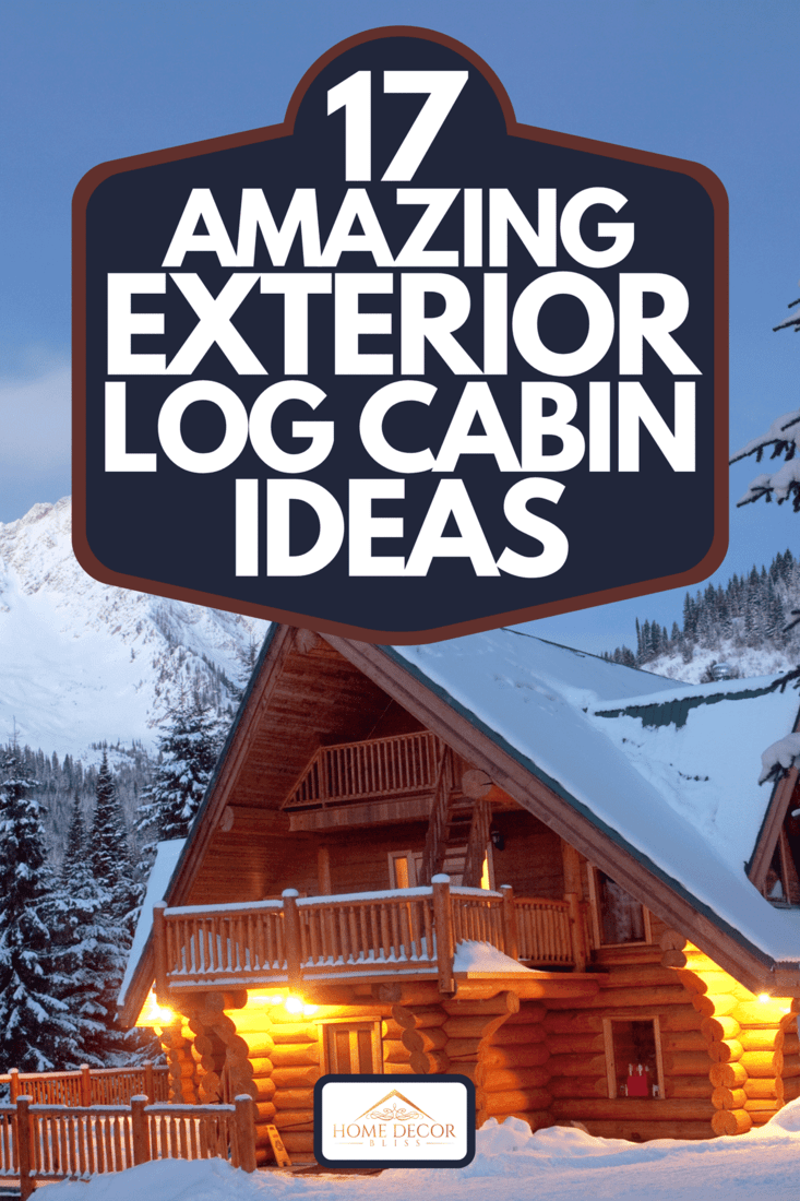 A winter scenic of a rustic, timber-framed lodge, 17 Amazing Exterior Log Cabin Ideas