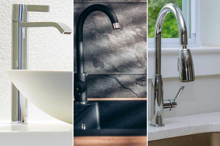 A collage of a vessel sink, drop-in sink and undermount sink, Vessel Sink Vs Drop-In Sink Vs Undermount Sink – Which To Choose?