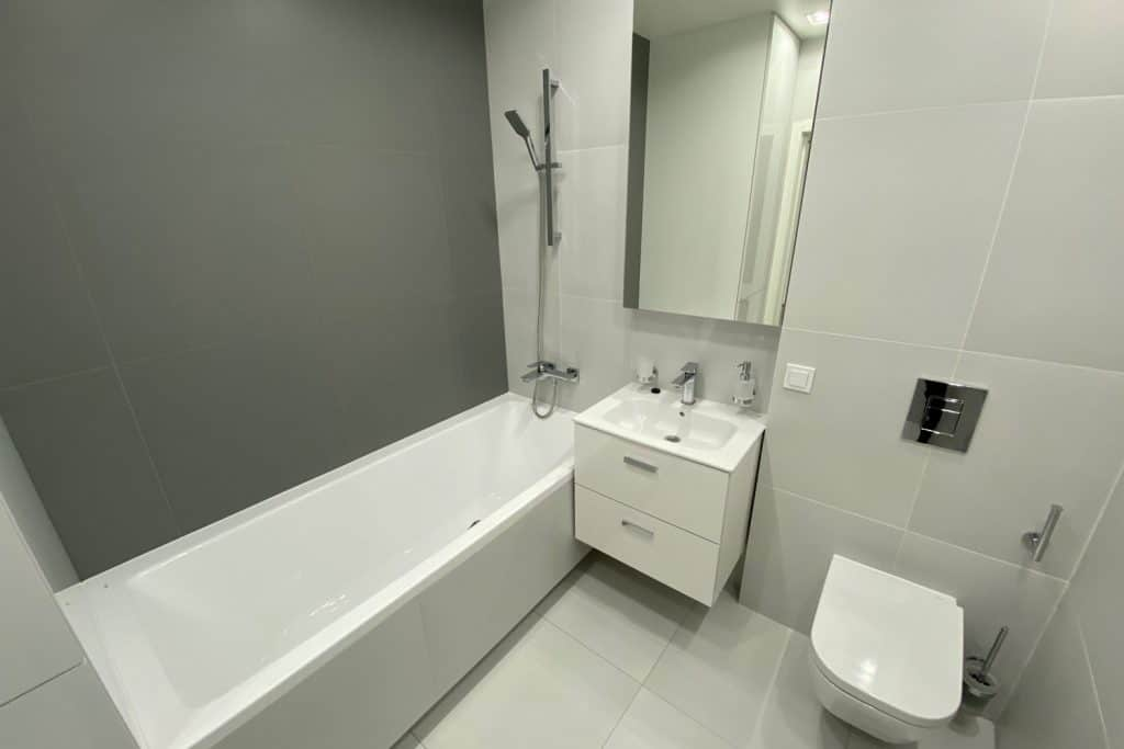 A small modern contemporary bathroom