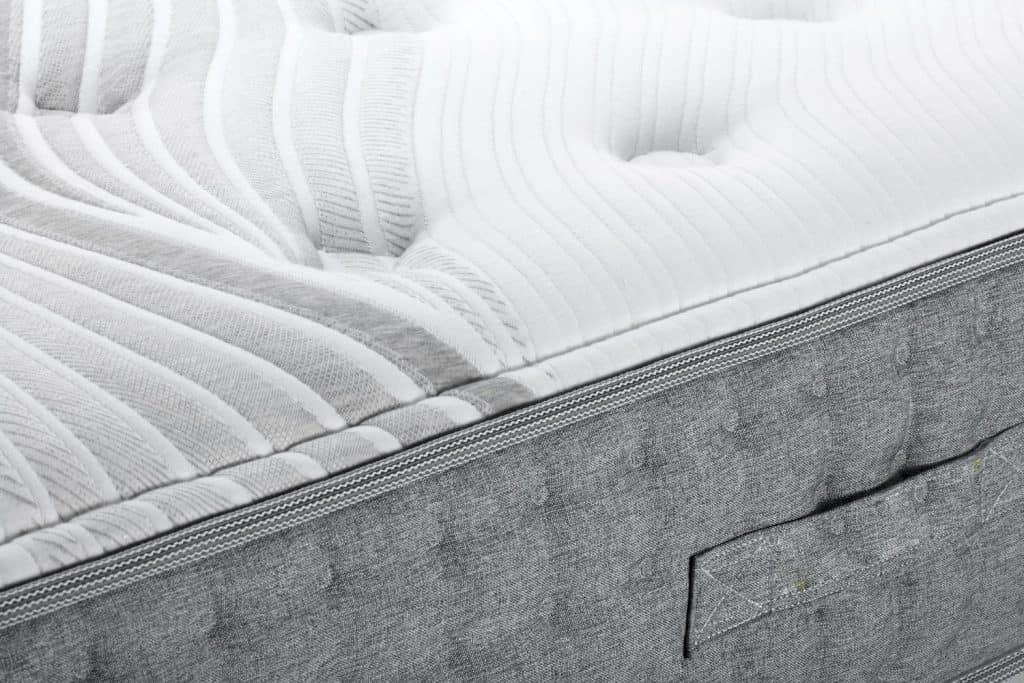 An up close photo of a memory foam mattress