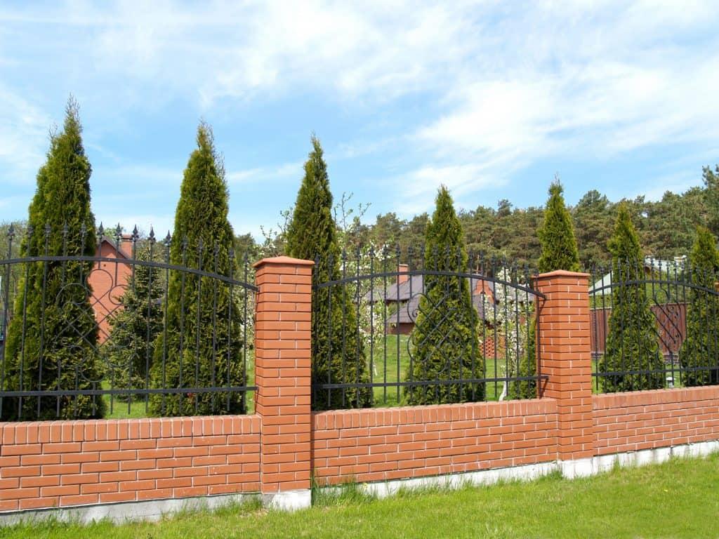 Brick Backyard Fence