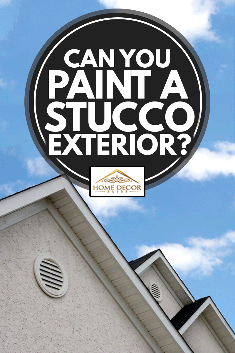 Can You Paint A Stucco Exterior?, adjacent peaks on a stucco house