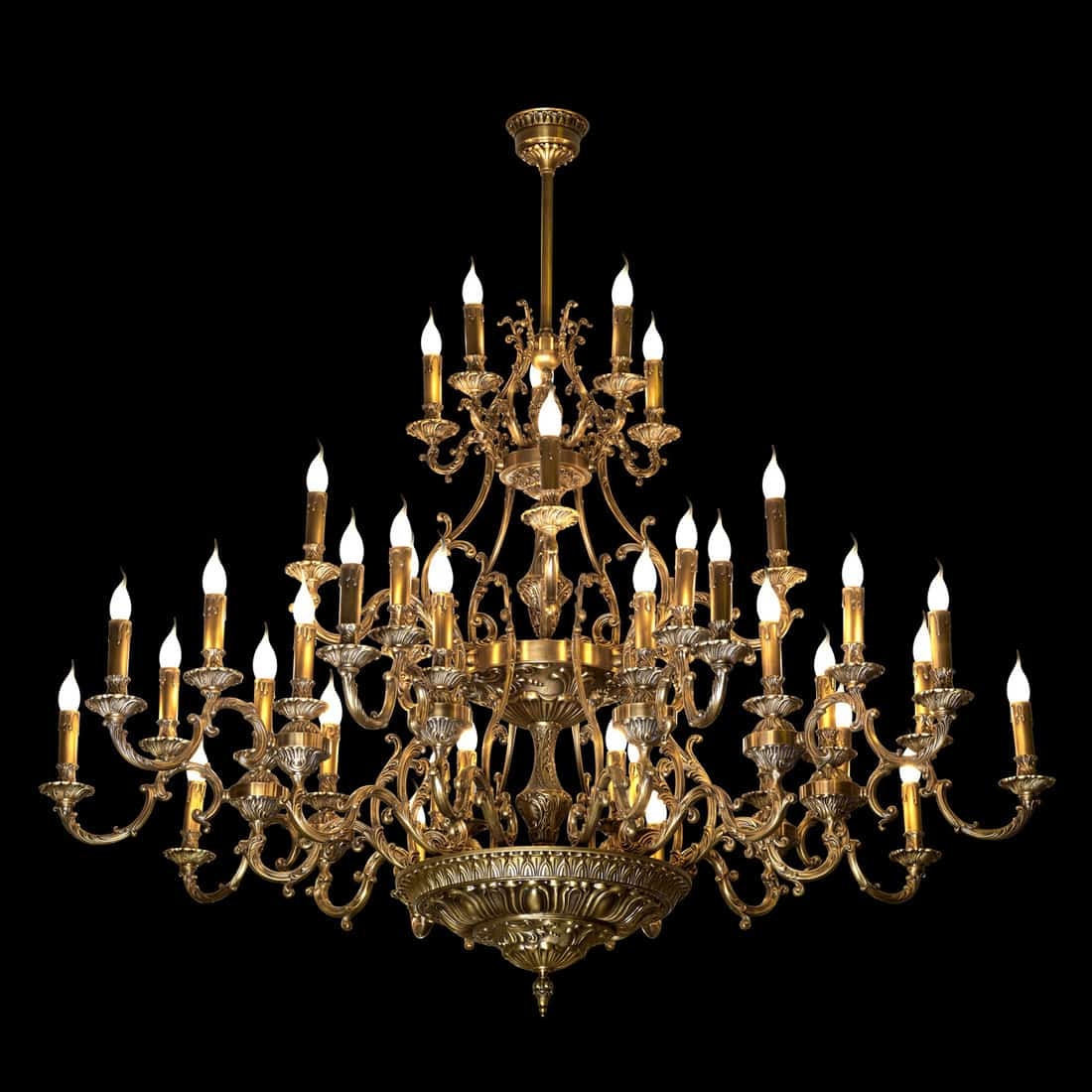 Chandelier isolated on black