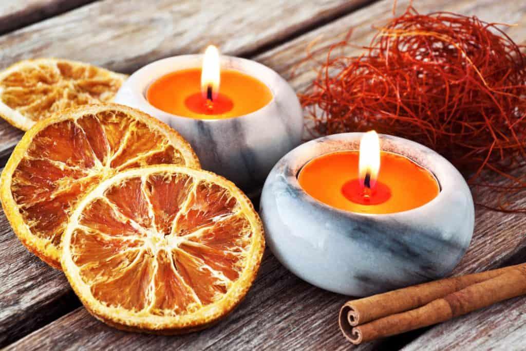 Citrus candle scents
