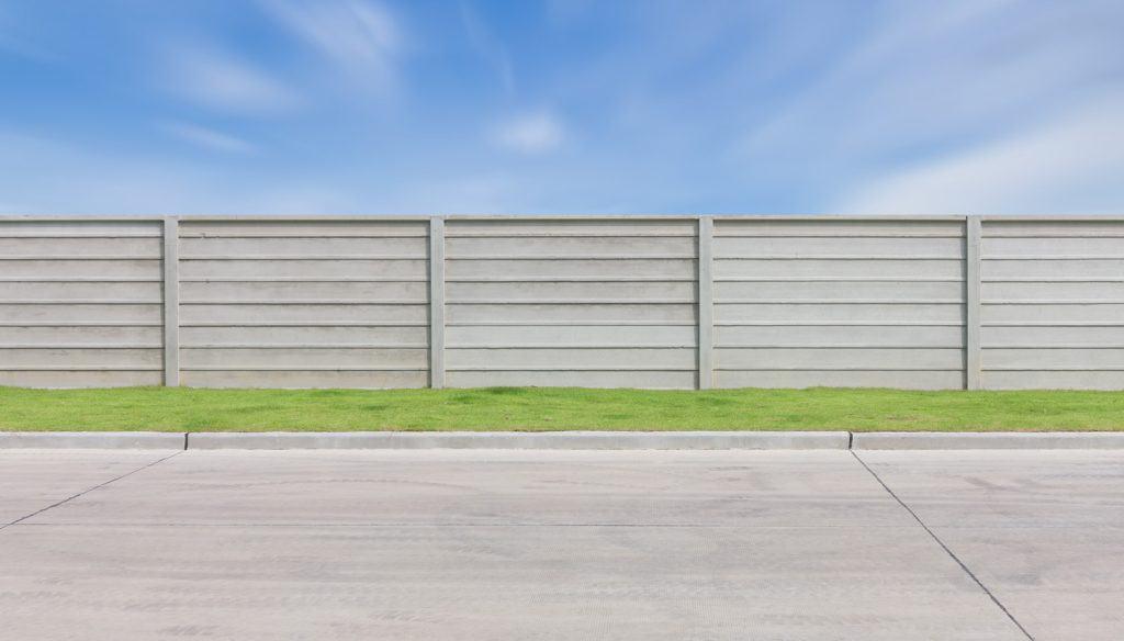 Concrete Backyard Fence