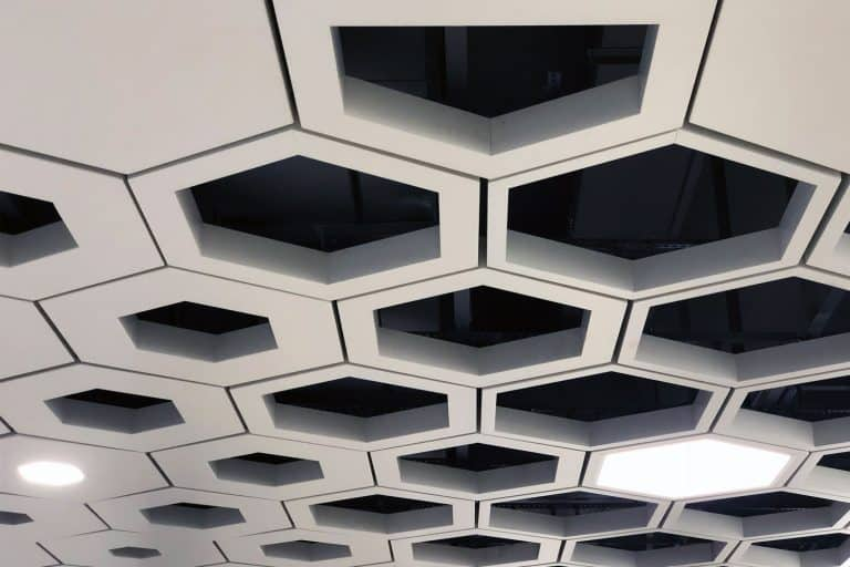 Drop Ceiling. Hexagon Aluminium Cell Tiles, How Big Is A Drop Ceiling Tile?