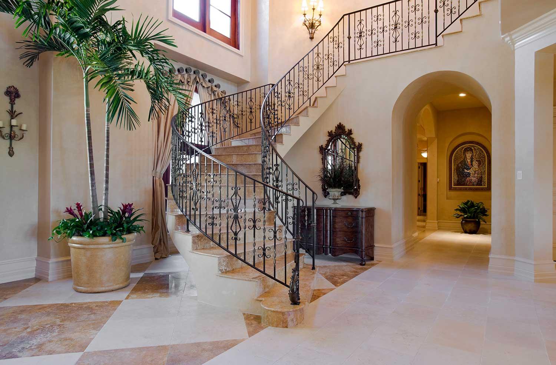 Elegant stairway in estate home