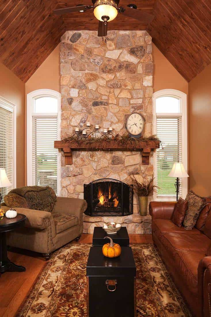Four season porch addition in residential home