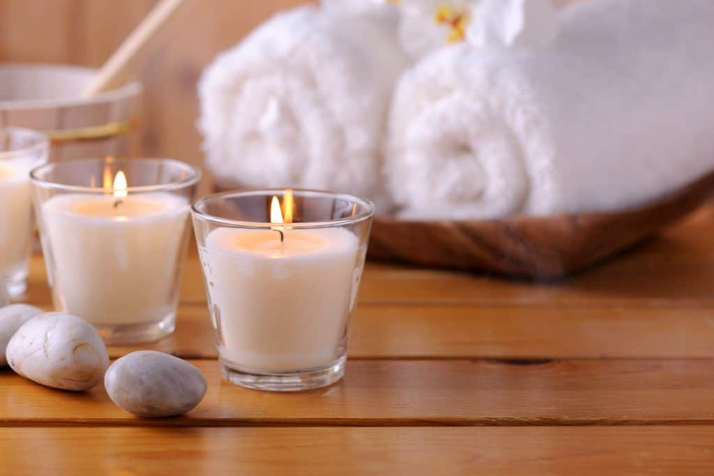 Fresh candle scent for Sauna relaxation