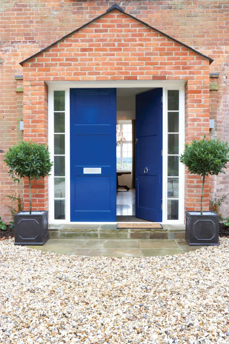 Front Door Of Modern brick wall house, Create A Beautiful Entryway From Your Front Door To Meet Your Driveway