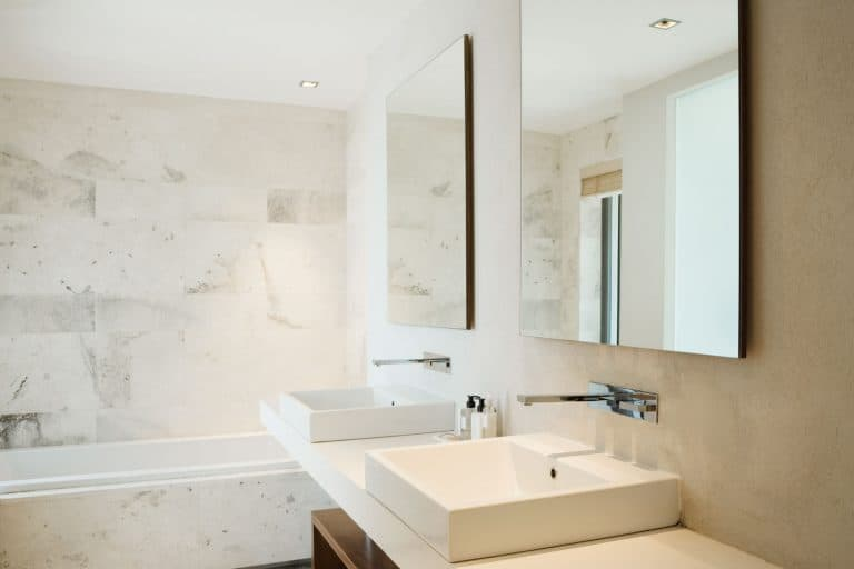 Gorgeous interior of a modern bathroom with two lavatories and two rectangular mirrors, 7 Of The Best Bathroom Sink Brands