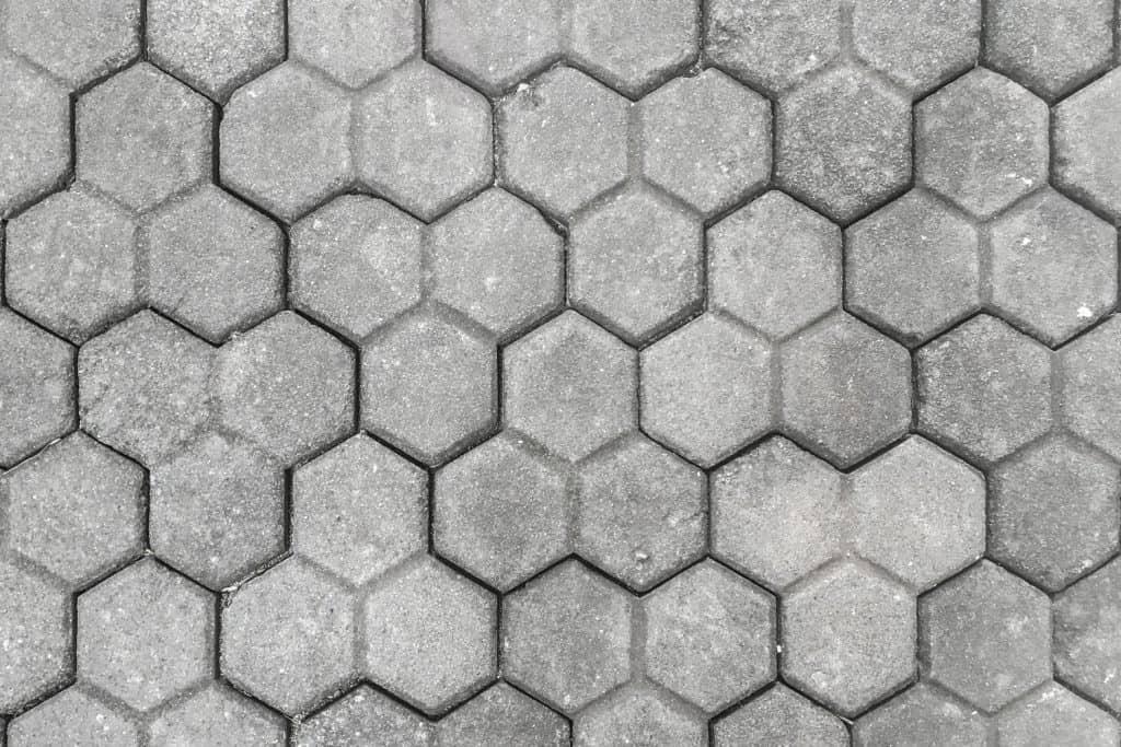 Hexagonal pavers on a driveway